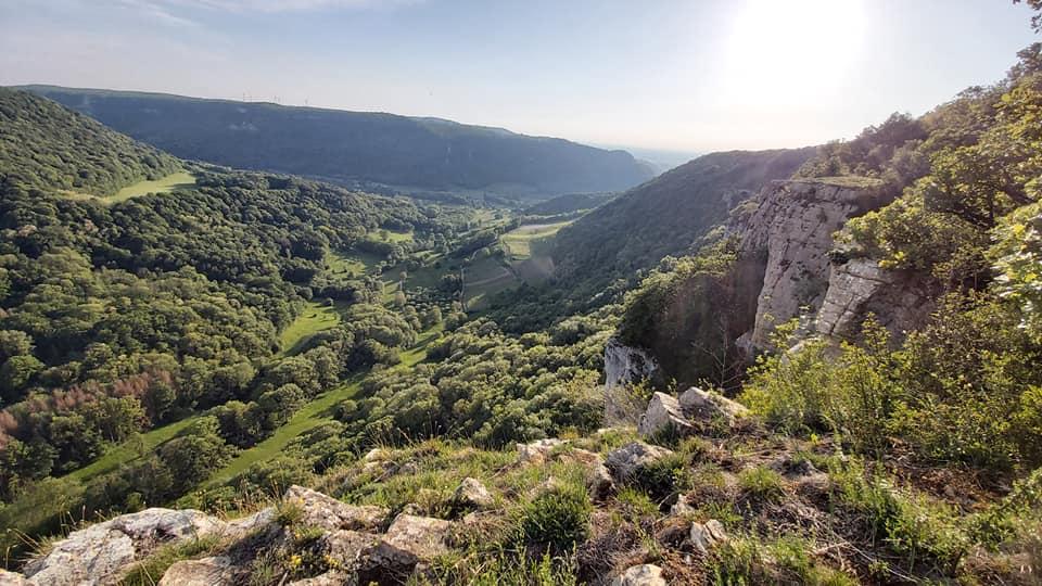 La roche du feu - randonnée pédestre Jura